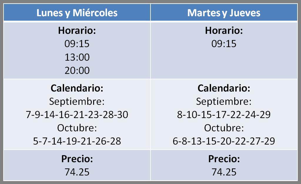 horario aquagym